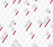 Vectorachtergrond, de witte en grijze geometrische rode lijnen van de patroonbreedte. Stock Afbeelding