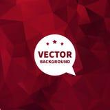 Vectorachtergrond, donkerrode geometrische textuur. Royalty-vrije Stock Foto's