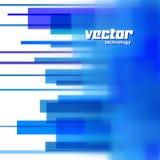 Vectorachtergrond met blauwe vage lijnen Royalty-vrije Stock Afbeeldingen
