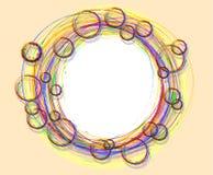 Vectorachtergrond met cirkel Stock Fotografie