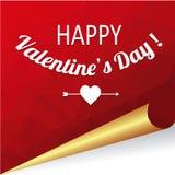 Vectorachtergrond met gelukwensen op Valentijnskaartendag Royalty-vrije Stock Foto's