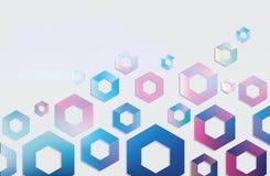 Vectorachtergrond met geometrische vormen Stock Foto