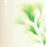 Vectorachtergrond met gevoelige bloemen royalty-vrije illustratie