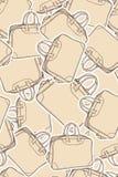 Vectorachtergrond met het winkelen en reiszak Royalty-vrije Stock Afbeeldingen
