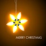 Vectorachtergrond met Kerstmisster Stock Afbeeldingen