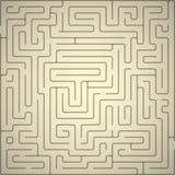 Vectorachtergrond met labyrint. Stock Fotografie