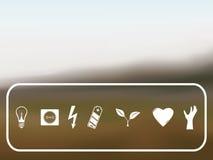 Vectorachtergrond met pictogrammen Stock Fotografie