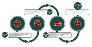 Vectorachtergrond met regeling voor aankoop in eshop vector illustratie