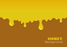 Vectorachtergrond met stromende honing Royalty-vrije Stock Afbeeldingen
