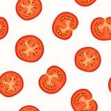 Vectorachtergrond met tomaten Stock Afbeeldingen