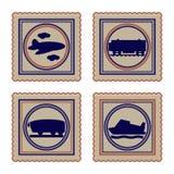 Vectorachtergrond met vervoer Stock Foto