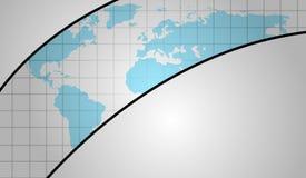 Vectorachtergrond met wereldkaart Stock Afbeelding