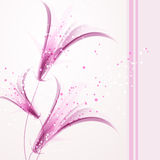 Vectorachtergrond met zachte bloemen Stock Afbeeldingen