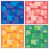 Vectorachtergrond, tegels in vier kleuren Stock Fotografie