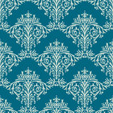 Vectorachtergrond van het damast de Naadloze Bloemenpatroon Royalty-vrije Stock Afbeeldingen