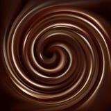 Vectorachtergrond van wervelende chocoladetextuur Royalty-vrije Stock Foto's