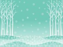 Vectorachtergrond van witte droge de winterbladeren Royalty-vrije Stock Afbeeldingen