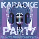 Vectorachtergrond voor karaokepartij Royalty-vrije Stock Foto