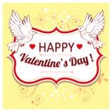 Vectorachtergrond voor Valentijnskaartendag Stock Afbeelding