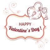 Vectorachtergrond voor Valentijnskaartendag Stock Foto's