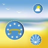 Vectoraffiche op het thema van de zomer Royalty-vrije Stock Afbeelding