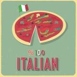 Vectoraffiche van Italiaanse pizza Royalty-vrije Illustratie