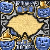 Vectoraffiche voor Halloween-vakantie Stock Illustratie