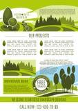 Vectoraffiche voor het groene bedrijf van het landschapsontwerp Royalty-vrije Stock Fotografie