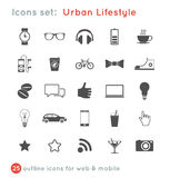 Vectoral icons set for communications Stock Photography