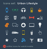 Vectoral icons set for communications Royalty Free Stock Photography