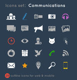 Vectoral icons set for communications Royalty Free Stock Image