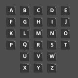 Vectoralfabet plastic tegels voor in verwarring brengende woorden Stock Foto