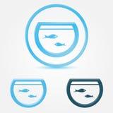 Vectoraquarium (vissentank) pictogram stock illustratie