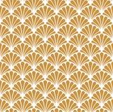Vectorart deco naadloos patroon Geometrische Bloemen decoratieve textuur Royalty-vrije Stock Afbeelding