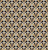 Vectorart deco naadloos patroon Geometrische Bloemen decoratieve textuur Royalty-vrije Stock Afbeeldingen