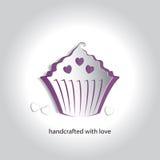 Vectorart paper icon design cupcake-Bakkerijwinkel Stock Fotografie