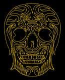 Vectorart. van de tatoegerings het stammen Mexicaanse schedel Stock Foto's