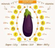 Vectoraubergine, infographics Stock Afbeeldingen