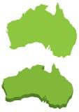 Vectoraustralië gedetailleerde kaart Stock Illustratie