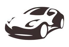 Vectorautosilhouet Royalty-vrije Stock Afbeeldingen
