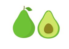 Vectoravocado Fuit Stock Foto