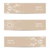 Vectorbanner van overladen beige kleur Stock Afbeelding