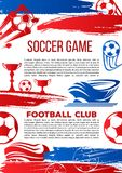 Vectorbanner voor de ligaspel van de voetbaluniversiteit Royalty-vrije Stock Afbeelding