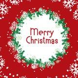 Vectorbanner Vrolijke Kerstmis vector illustratie