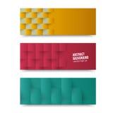 Vectorbanners en vierkanten. Kleur vector illustratie
