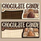 Vectorbanners voor Chocoladesuikergoed royalty-vrije illustratie