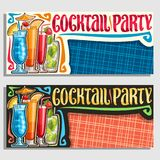 Vectorbanners voor Cocktail party vector illustratie