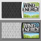 Vectorbanners voor Windenergie Vector Illustratie