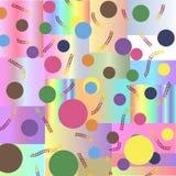 Vectorbeeld, de kleurrijke cirkels als achtergrond en de rechthoeken, Royalty-vrije Stock Foto's