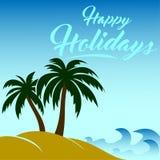Vectorbeeld gelukkige vakantie Royalty-vrije Stock Foto